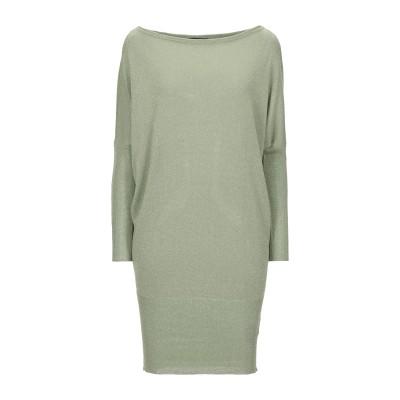 ONLY ミニワンピース&ドレス ライトグリーン S レーヨン 81% / 金属繊維 19% ミニワンピース&ドレス