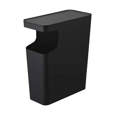 山崎実業 ゴミ箱 サイドテーブル ナイトテーブル ダストボックス&サイドテーブル タワー ブラック 3989