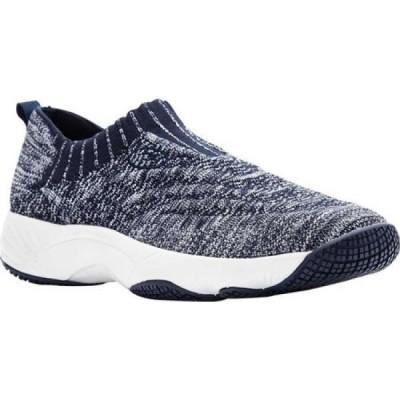 プロペット Propet レディース スリッポン・フラット シューズ・靴 Wash N Wear Slip-On Navy/White Knit Mesh