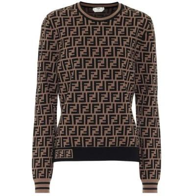 フェンディ Fendi レディース ニット・セーター トップス FF jacquard sweater Tobacco