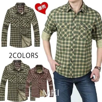 2020新作チェックシャツ メンズ ミリタリーシャツ 長袖 シャツ カジュアルシャツ 秋 秋物 アウトドア ワークシャツ