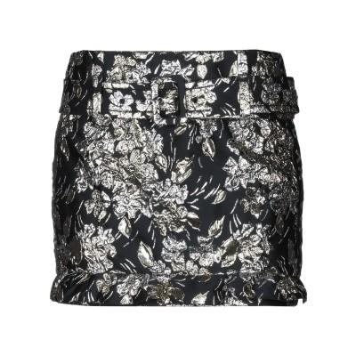プラダ PRADA ミニスカート ブラック 40 ポリエステル 52% / 金属繊維 24% / シルク 16% / ナイロン 8% / コットン