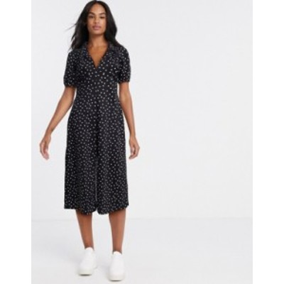 エイソス レディース ワンピース トップス ASOS DESIGN ultimate midi tea dress in polka dot Mono spot