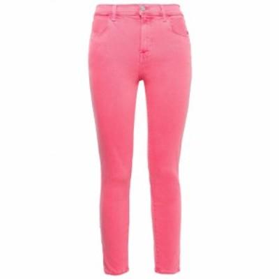 ジェイ ブランド J BRAND レディース ジーンズ・デニム ボトムス・パンツ Cropped coated high-rise skinny jeans Bright pink