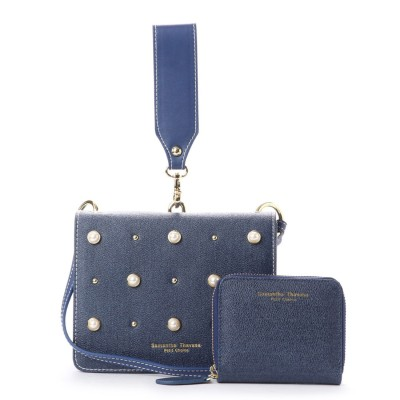 Samantha Thavasa Petit Choice サマンサタバサプチチョイス マイクロミニバッグシリーズデニムバージョン大サイズ ミニ財布付き