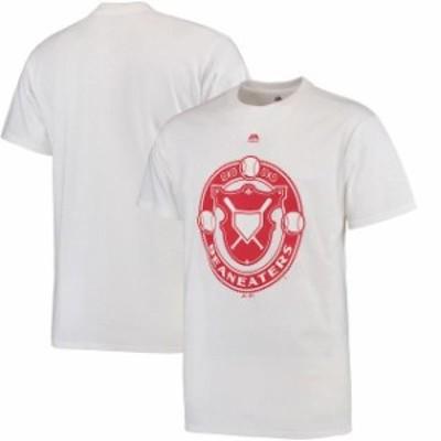 Majestic マジェスティック スポーツ用品  Majestic Atlanta Braves White Beaneaters Historical Team T-Shirt