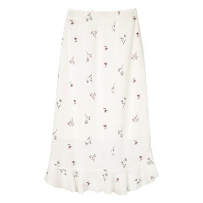 titivate (ティティベイト) レディース フラワー裾フリルスカート オフホワイト M