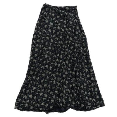 HONORS レーヨン 総柄 ロングスカート サイズ表記:M
