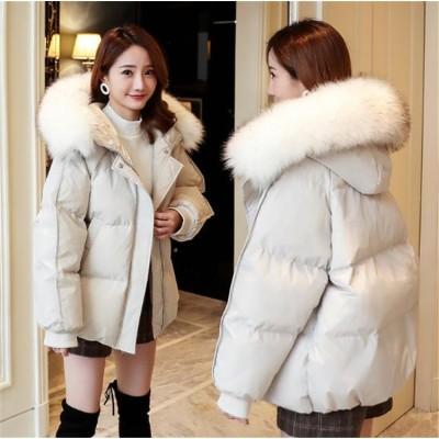 今季トレンドデザイン 韓国ファッション 冬 ゆったりする コート 厚みをつける エレガント 百掛け カレッジ風 小さい新鮮な 韓国 原宿BF風 フード付き 短いスタイル