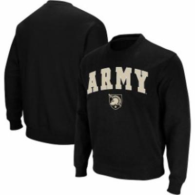 Colosseum コロセウム スポーツ用品  Colosseum Army Black Knights Black Arch & Logo Crew Neck Sweatshirt