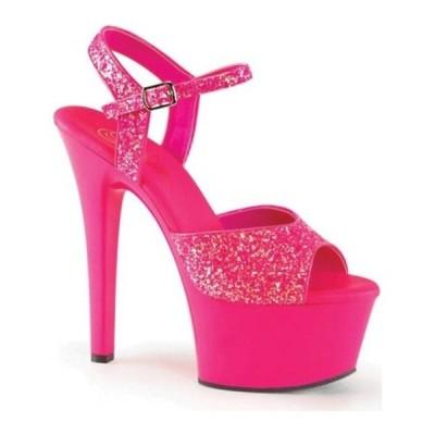 プリーザー サンダル シューズ レディース Aspire 609G Ankle-Strap Sandal (Women's) Neon Hot Pink Glitter/Hot Pink