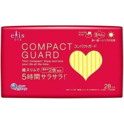 大王製紙 エリス コンパクトガード 羽つき (多い昼~ふつうの日用) 28枚 婦人衛生用品
