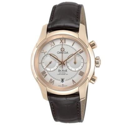 オメガ OMEGA デ・ヴィル アワービジョン メンズ 腕時計 オートマ クロノグラフ 自動巻 シルバー 431.53.42.51.02.001