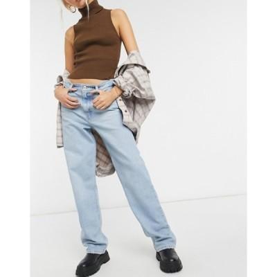 リーバイス レディース デニムパンツ ボトムス Levi's high loose straight leg jeans in bleach wash
