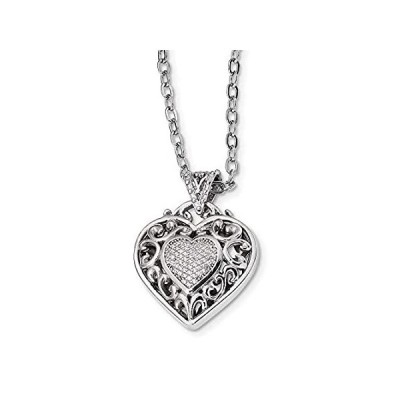 新品  Chain Necklace White Sterling Silver Cable with pendant Cubic Zirconia CZ R  並行輸入品