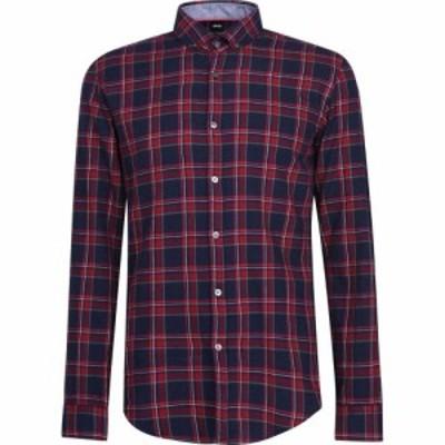 ヒューゴ ボス Boss メンズ シャツ トップス Rikard Shirt Dark Red