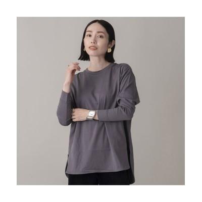 EUCLAID/エウクレイド 綿天竺ロングスリーブTシャツ グレー F