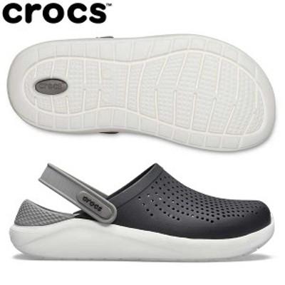 【送料無料】 クロックス ライトライド クロッグ 204592 サンダル ブラック×スモーク crocs LiteRide Clog