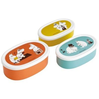 ムーミン カラー 食洗機対応シール容器 3Pセット