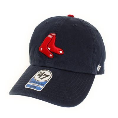 47帽子 キャップ Red Sox 47 CLEAN UP B-RGW02GWS-A1 日よけネイビー