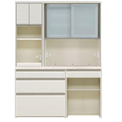オープン食器棚 150cm幅 上下重ね レンジボード フォルツ 開梱設置