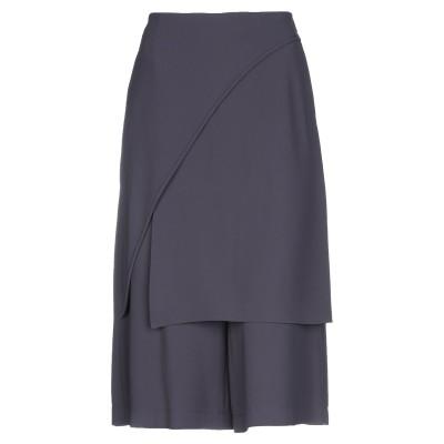 CAPPELLINI by PESERICO 7分丈スカート 鉛色 42 ポリエステル 100% 7分丈スカート