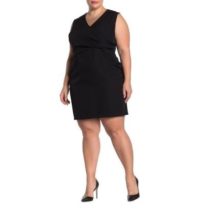 アレクシアアドマー レディース ワンピース トップス Kylie Surplice Neck Sleeveless Dress BLACK