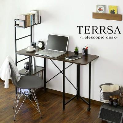 デスク おしゃれ ゲーミング ラック パソコン オフィス 省スペース PC 収納 学習 勉強 机 つくえ テルサ 北欧 プレゼント