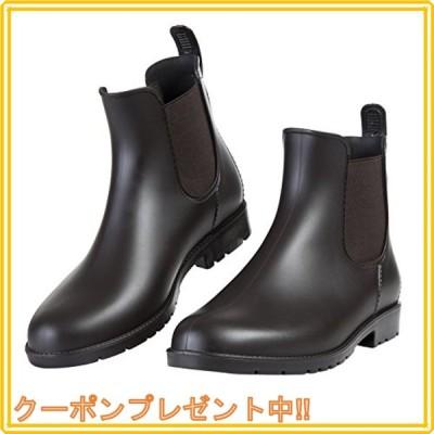 [shevalues] レインシューズ レディース&メンズ ショートブーツ 無地 晴雨兼用 台風対応 大きいサイズ サイドゴア