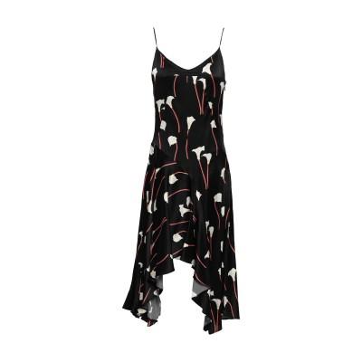 CAROLINE CONSTAS 7分丈ワンピース・ドレス ブラック S シルク 93% / ポリウレタン 7% 7分丈ワンピース・ドレス