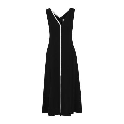 CAROLINA HERRERA 7分丈ワンピース・ドレス ブラック 4 ウール 100% / バージンウール / ポリウレタン® / ナイロン 7