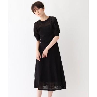 AG by aquagirl/エージー バイ アクアガール ◆【洗える】アイレットニットワンピース ブラック(019) 38(M)