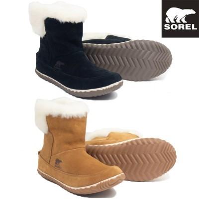 【即納】2020秋冬 SOREL ソレル アウトアンドアバウトブーティー レディース ウィメンズ (NL3073 011 286) ショートブーツ ブーツ スエード