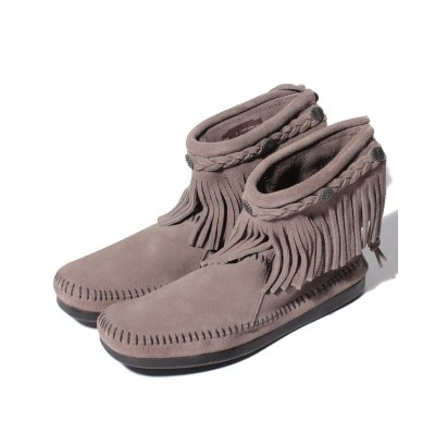 【ミネトンカ】 HI TOP BACK ZIP BOOT Medium Grey レディース Medium Grey 22cm MINNETONKA