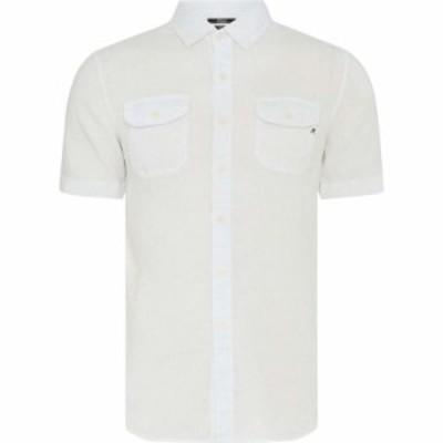 リプレイ Replay メンズ 半袖シャツ トップス Short-Sleeve Cotton Shirt White