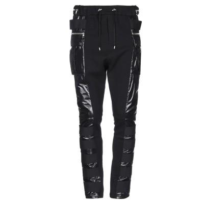 バルマン BALMAIN パンツ ブラック L コットン 100% / ナイロン パンツ