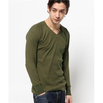 VIBGYOR / 【HOUSTON】パックVネック長袖Tシャツ MEN トップス > Tシャツ/カットソー