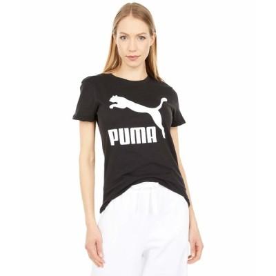 プーマ シャツ トップス レディース Classics Logo Tee PUMA Black