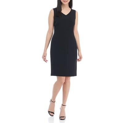 カスパール レディース ワンピース トップス Petite V-Neck Dress