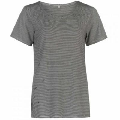 ファイヤートラップ Firetrap レディース Tシャツ トップス Blackseal Distressed T Shirt Grey