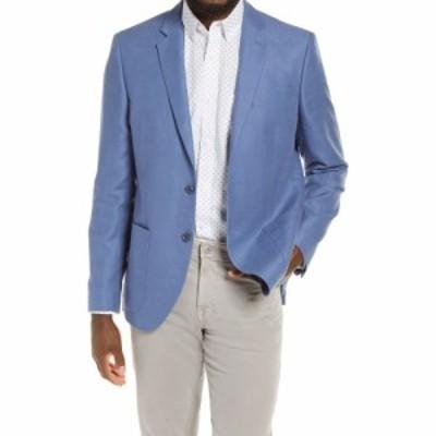 ノードストローム NORDSTROM MENS SHOP メンズ コート アウター Extra Trim Fit Sport Coat Blue Bijou Melange