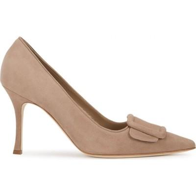 マノロブラニク Manolo Blahnik レディース パンプス シューズ・靴 Maysale 90 Taupe Suede Pumps Nude