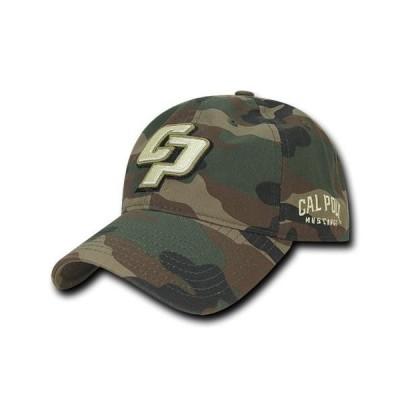 ユニセックス スポーツリーグ アメリカ大学スポーツ NCAA Cal Poly Mustangs 6 Panel Relaxed Camo Camouflage Baseball Caps Hats