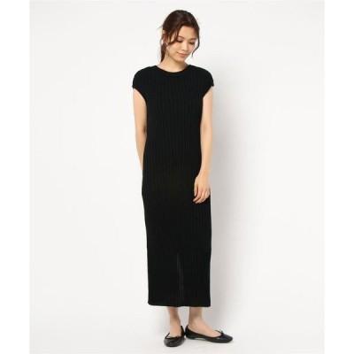 ドレス 【Uhr(ウーア)】バックオープンリブドレス