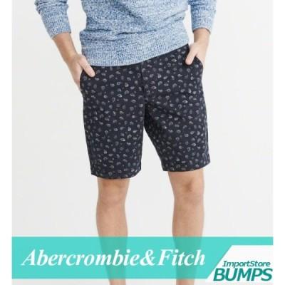 アバクロンビー&フィッチ ハーフパンツ ショート 短パン メンズ プリーツパンツ リネンブレンド ボトムス 半ズボン 新作 アバクロ