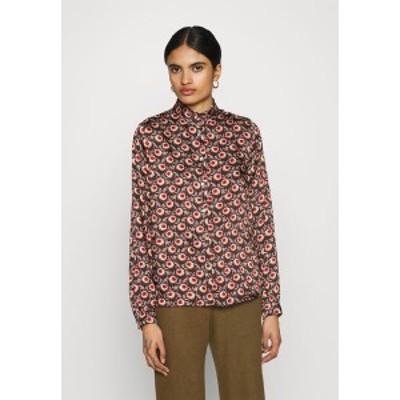 ヴィラ レディース シャツ トップス VIMARIE SIMPLE RUFFLE - Button-down blouse - navy blazer navy blazer