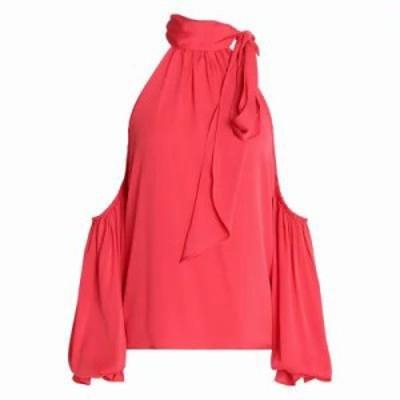 ミリー ブラウス・シャツ Cold-shoulder silk-blend blouse Coral