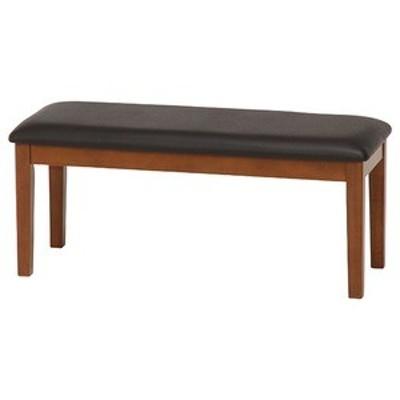 ds-1951321 北欧調 ダイニングベンチ/ベンチ 【ブラウン】 幅100cm 木製フレーム 『スノア』 〔什器 カフェ〕 (ds1951321)