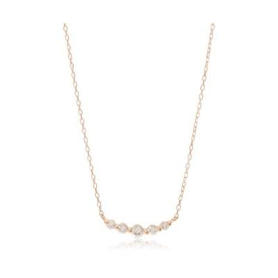 [ディーコレクション] ダイヤモンド 0.3ct ピンクゴールド K18 ネックレス FPN189901P