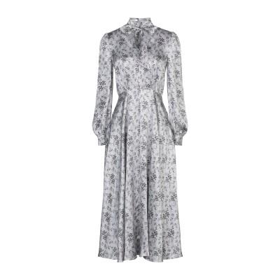 CO 7分丈ワンピース・ドレス グレー S シルク 100% 7分丈ワンピース・ドレス